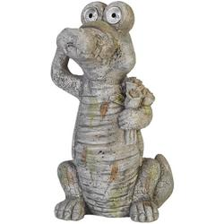 Crocodile Solar Light Garden Statue