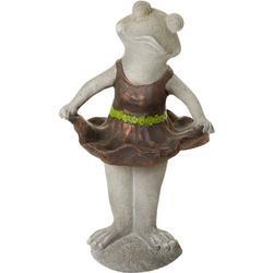 Ballerina Frog Garden Statue