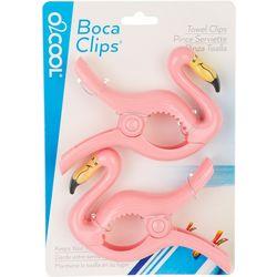 Boca Clips 2-pc. Flamingo Beach Towel Clip Set