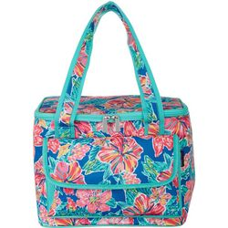 Tropical Floral 16 Can Cooler Tote