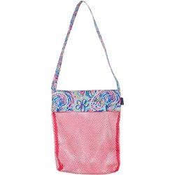 Tackle & Tides Flamingo Paisley Mesh Shell Bag
