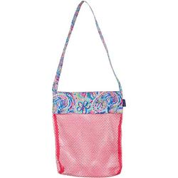 Flamingo Paisley Mesh Shell Bag