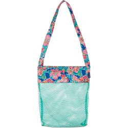 Tropical Floral Mesh Shell Bag
