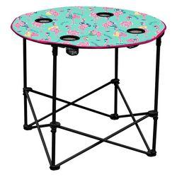 Coastal Home Flamingo Foldable Round Table