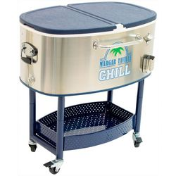 77-qt. Rolling Stainless Steel Cooler