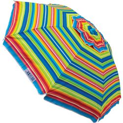 Rio Brands 6' Stripe Print Tilt Beach Umbrella