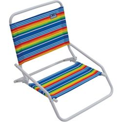 Rio Brands 1 Position Striped Beach Chair