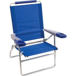 4 Position 15'' Solid Beach Chair