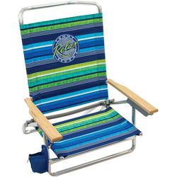 5 Position Relax Stripe Print Beach Chair