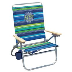Striped Easy In Easy Out Beach Chair
