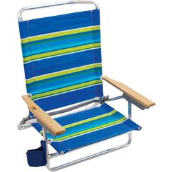 5 Position Stripe Beach Chair