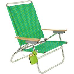 4 Position Easy In Easy Out Fish Print Beach Chair