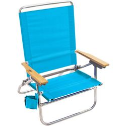 Rio 4 Position Easy In Easy Out Solid Beach Chair