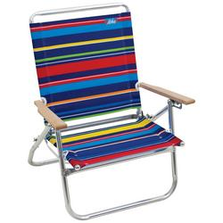 4 Position Easy In Easy Out Striped Beach Chair