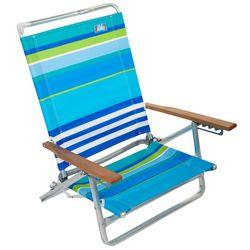 Rio 5 Position Classic Striped Beach Chair