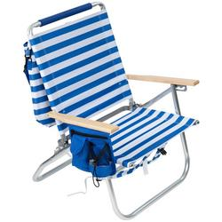 Easy In Easy Out Striped Backpack Beach Chair