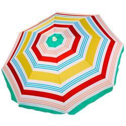 Brands 6' Stripe Tilt Beach Umbrella & Sand Anchor
