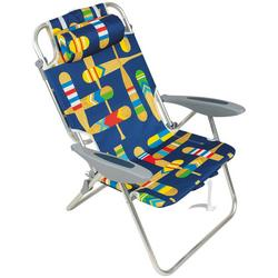 4 Position Solid Beach Chair