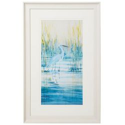 Coastal Home Egret Morning Framed Art