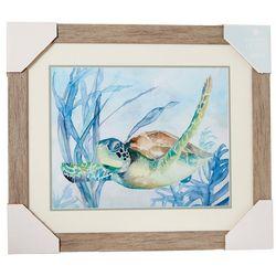 Coastal Home Ocean Turtle II Framed Wall Art