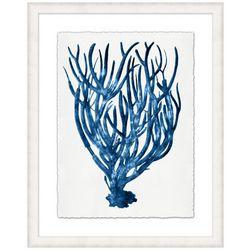 Coastal Home Blue Coral I Framed Wall Art