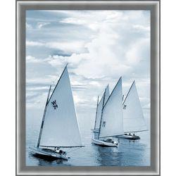Coastal Home Blue Sails I Framed Wall Art