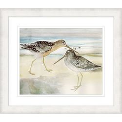 Coastal Home Sand Piper Duo Framed Wall Art