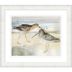 Sand Piper Duo Framed Wall Art