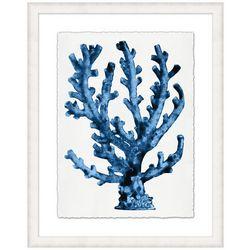 Coastal Home Blue Coral III Framed Wall Art