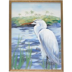 JD Yeatts Heron Framed Wall Art