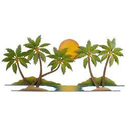 Palm Trees & Sun Metal Wall Art