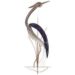 T.I. Design Elegant Heron Metal Wall Art