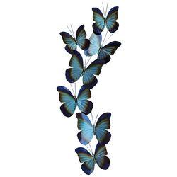 T.I. Design Butterflies Blue Metal Wall Art
