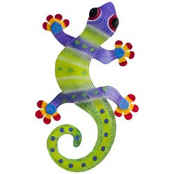 T.I. Design Gecko Dotted Metal Wall Art