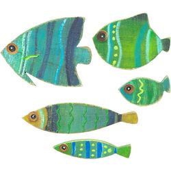 5-pc. Tropical Fish Wood Wall Art Set