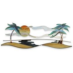 Tropical Beach Metal Wall Art - 32x12