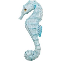 T.I. Design Carved Seahorse Wall Art