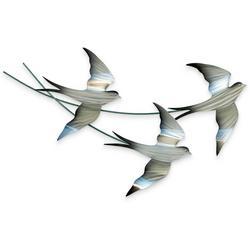 Swallows In Flight Metal Wall Art