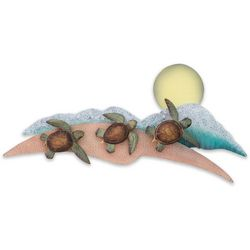 T.I. Design March To The Sea Turtles Metal Wall Art -21x2x10