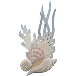 T.I. Design Shell & Reef Tulip Vertical Carved Wall Art