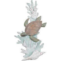 Sea Turtle Reef Metal Wall Art - 12x24