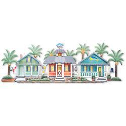 Caribbean Villa Patio Metal Wall Art - 55x20