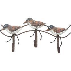T.I. Design Shorebirds Triple Hook Metal Wall Decor