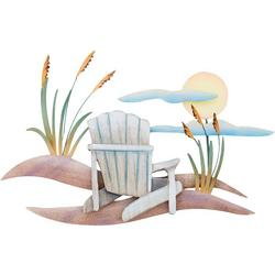 Beach Chair Scene Metal Wall Art
