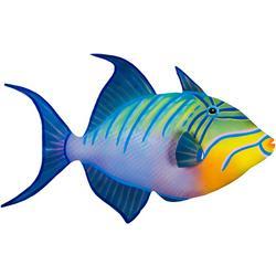 Triggerfish Metal Wall Art - 24x9