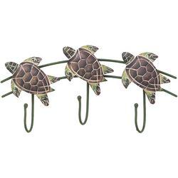T.I. Design Sea Turtle Triple Wall Hook - 11x5