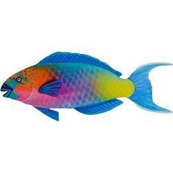 Parrot Fish Patio Metal Wall Art - 24x9