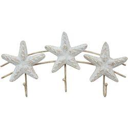 T.I. Design Starfish Triple Hook Wall Decor