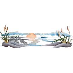 T.I. Design Sand Dunes Metal Wall Art