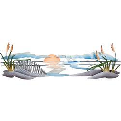Sand Dunes Metal Wall Art - 44x18